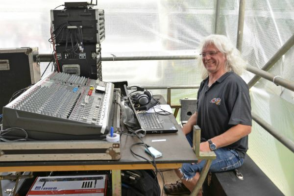 The sound man made sure it all went smoothly (photo Steve Beeston)