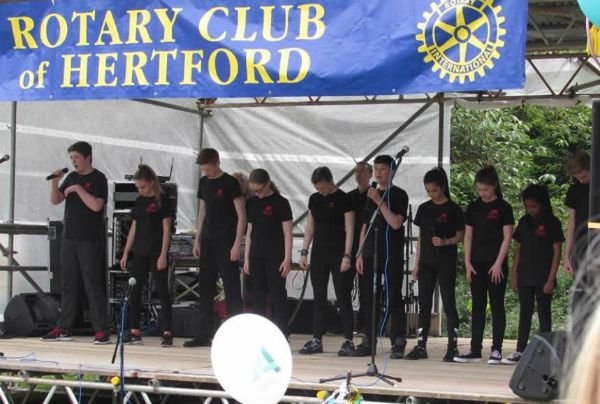 Ten talented teens from Top Hat (photo Hertford Town Council)