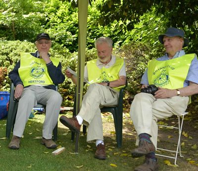 We worked the Rotary stewards hard, but allowed them to have a brief sit down occasionally (photo Steve Beeston)