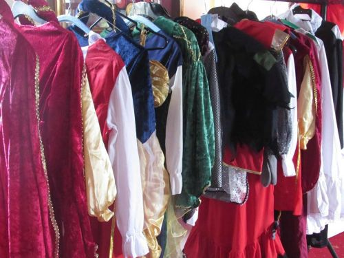 Costumes on show in the Castle (photo Hertford Town Council)
