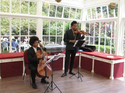 Strings in the conservatory (photo Hertford Town Council)