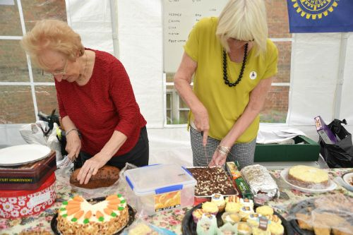 Inner Wheel provided us with tea and cakes (photo Steve Beeston)