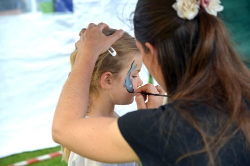 The face painting was as popular as ever (photo Steve Beeston)