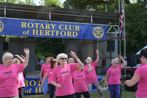 Zumba with the U3A group (photo Steve Beeston)
