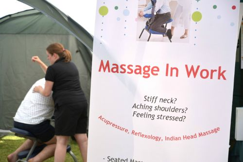 Stressful week? - have a massage (photo Steve Beeston)