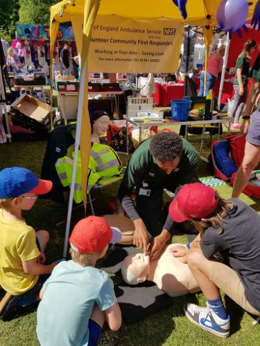 Children learned CPR (photo Ali Rhodes)