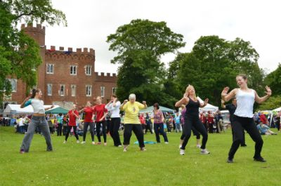 Everyone Active's very energetic Zumba session (photo Steve Beeston)