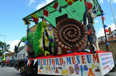 The Museum's float, worked on by many local schools (photo Steve Beeston)