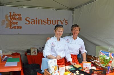 Sainsburys were a key sponsor and one of the many stalls (photo Steve Beeston)