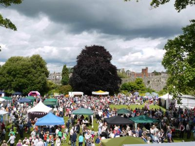 The Castle grounds bustled on Carnival day (photo David Sartin)