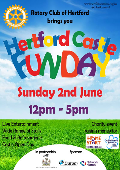 hertford castle funday poster small